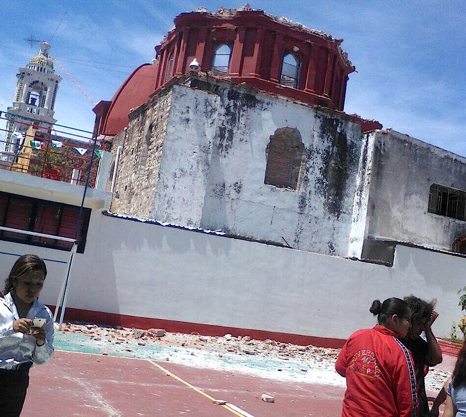 Terremoto en México. Arquidiócesis de Puebla