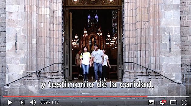 Vídeo del Papa septiembre 2017. Captura de pantalla Youtube