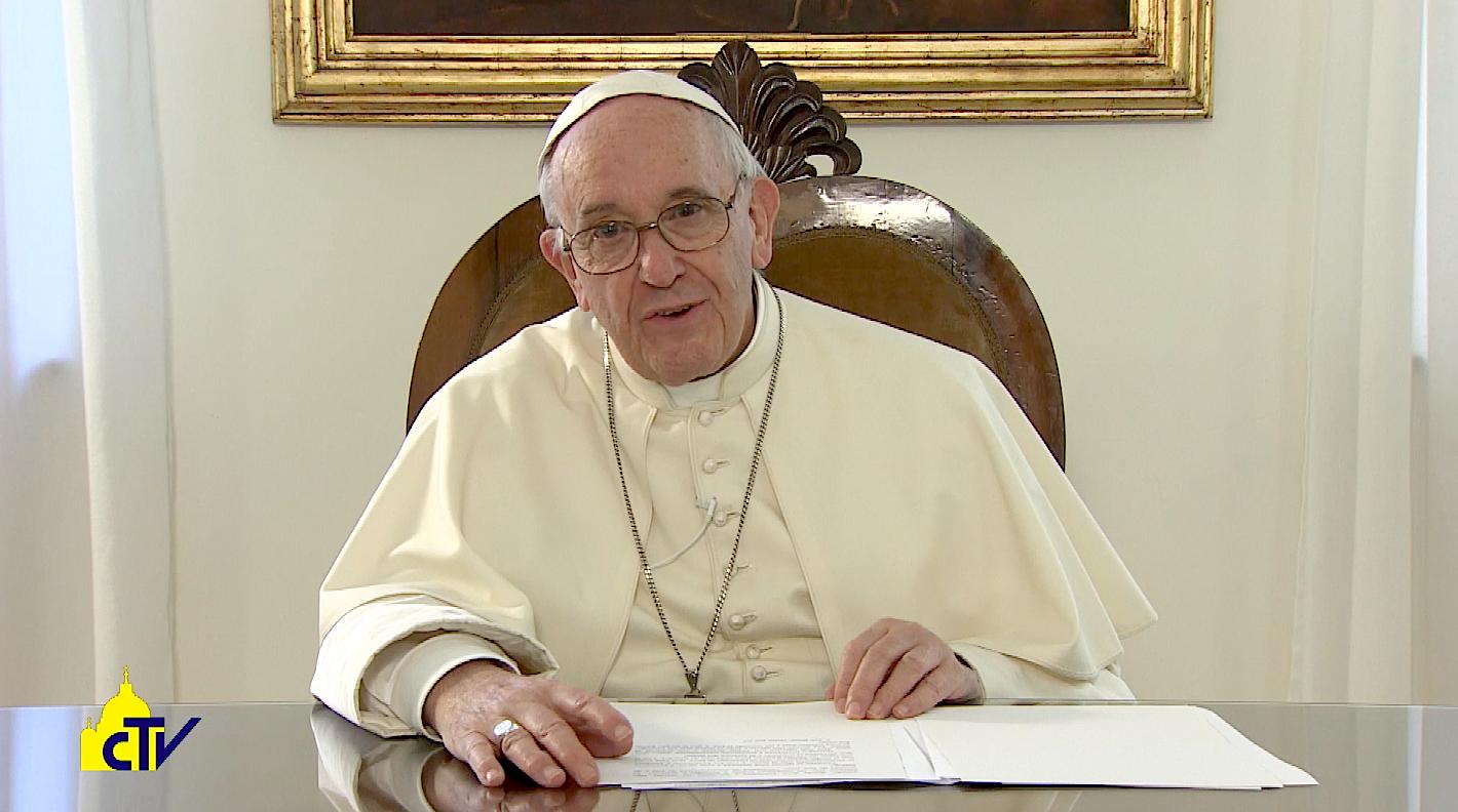 Vídeo mensaje del Papa Francisco. Captura de pantalla CTV