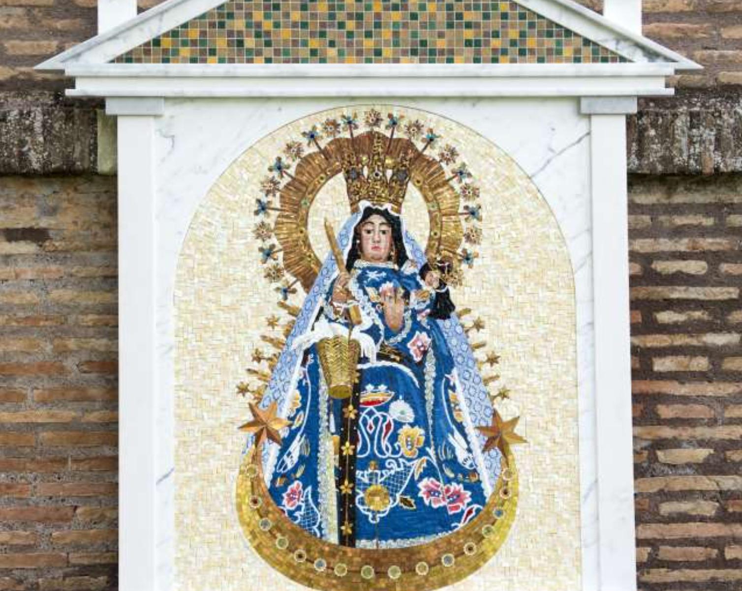 Mosaico representando a la Virgen de Copacabana en los Jardines del Vaticano - (Fto. Cortesía embajada de Boliva ante la Santa Sede)