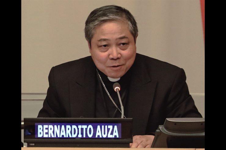 Mons. Bernardito Auza. Captura de pantalla UNTV