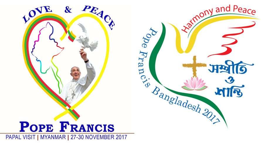 Logos del viaje apostólico a Myanmar y a Bangladesh