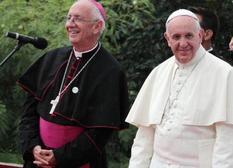 El Papa y Mons. Aranguren en Cuba, 2015 © A. Cantero/Holguín Católica