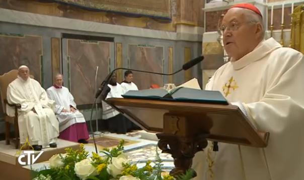 Misa En La Capilla Pauline Por Los 90Años De l Cardenal Sodano