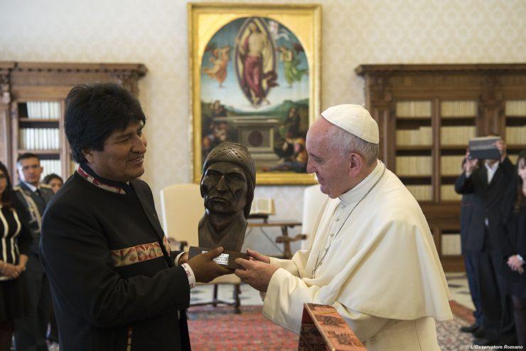 Audiencia de Evo Morales con el Papa Francisco, 15/04/2016 © L´Osservatore Romano