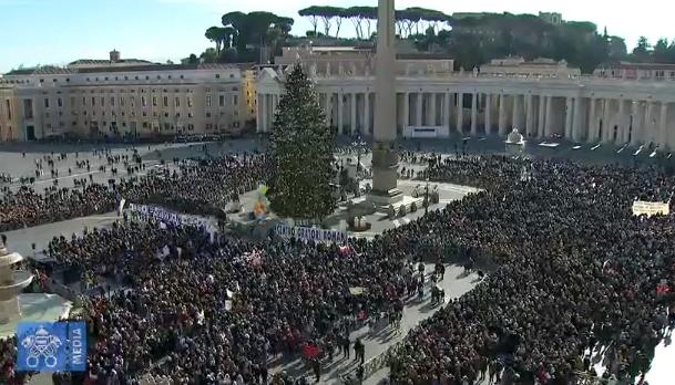 Ángelus del 17/12/2017, Captura Vatican Media