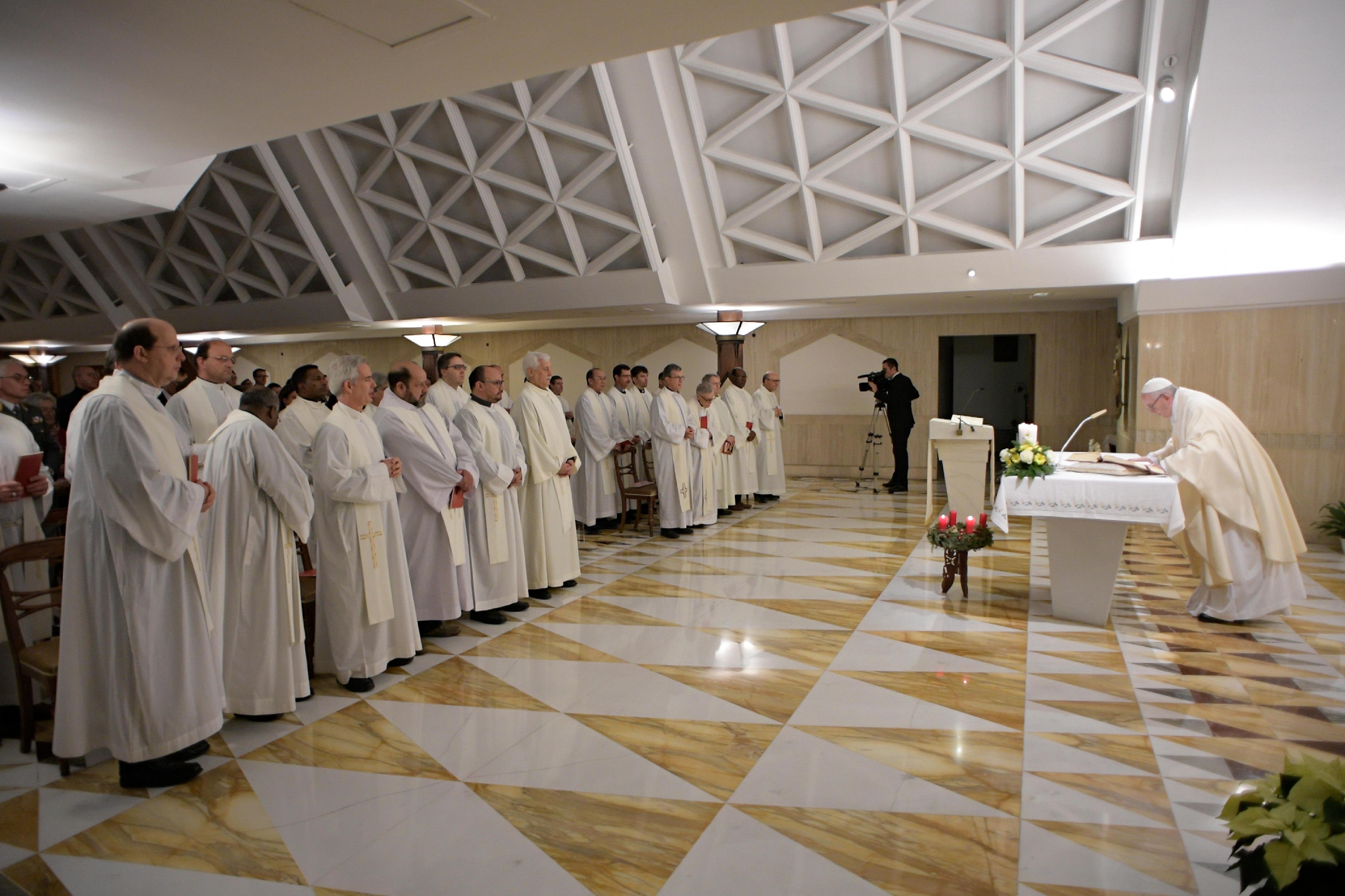 El Papa celebra la Misa en Santa Marta 14/12/2017 © L´Osservatore Romano