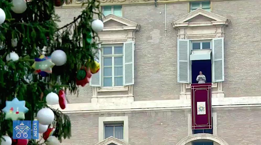 Angélus 26/12/2017. Captura de pantalla Vatican Media