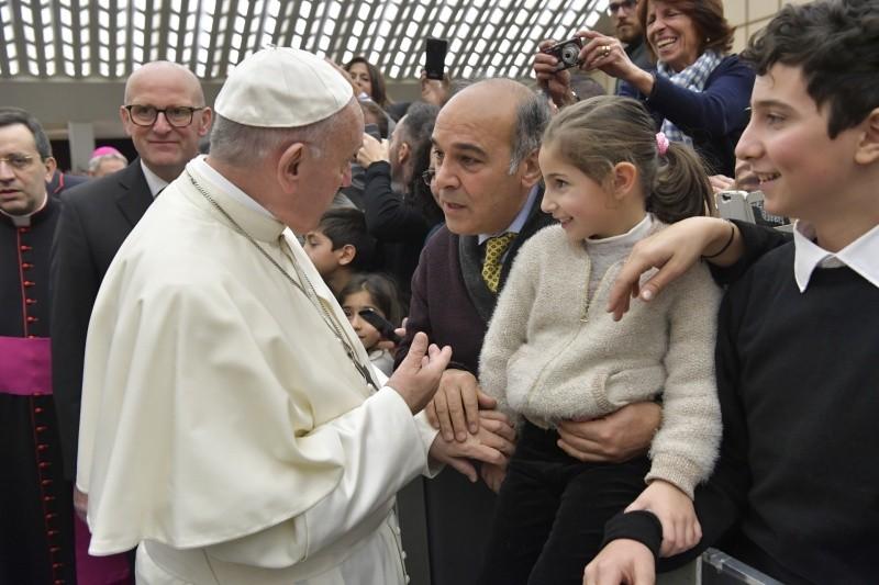 El Papa felicita la Navidad a los trabajadores del Vaticano © L'Osservatore Romano