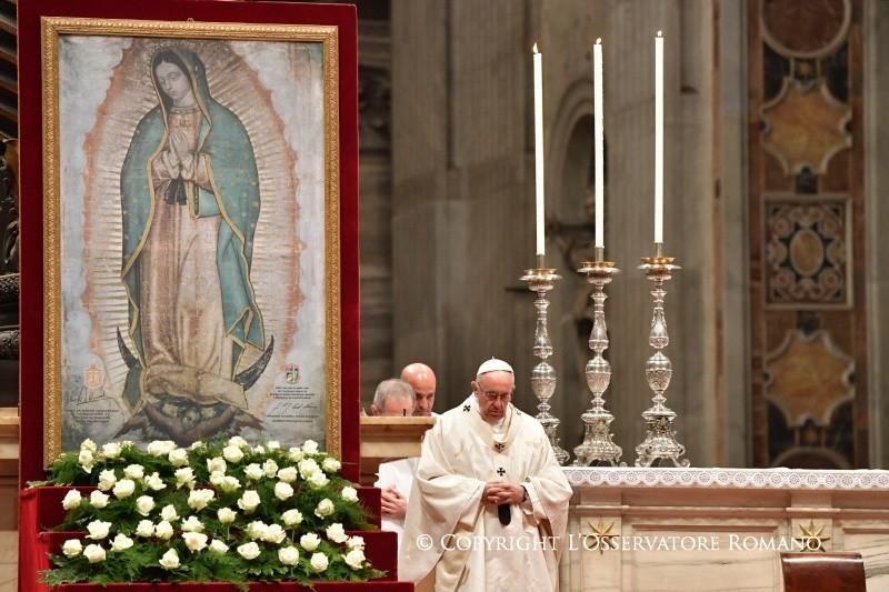 Misa en la Festividad de la Virgen de Guadalupe © L´Osservatore Romano
