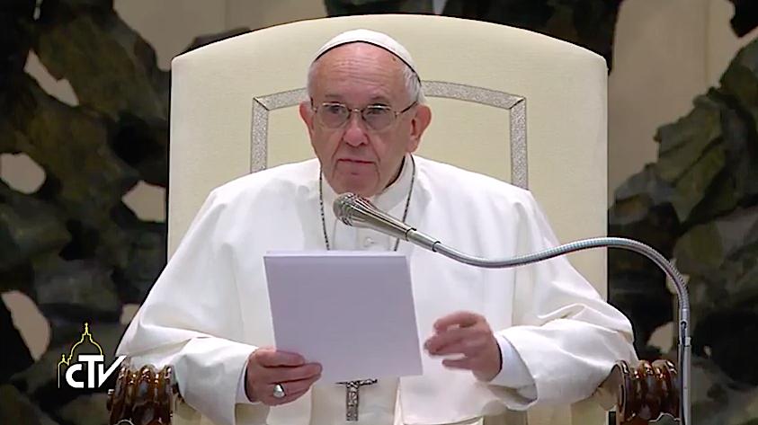 El Papa llama a la paz en Jerusalén. Captura de pantalla CTV