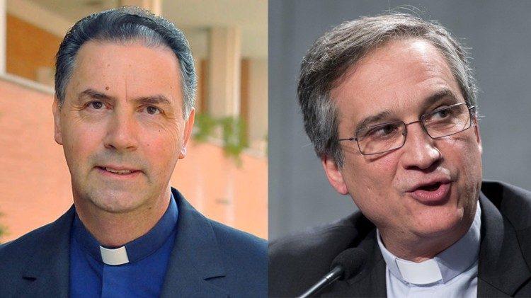 P. Ángel Fernández Artime y Mons. Dario Edoardo Viganó © Vatican News