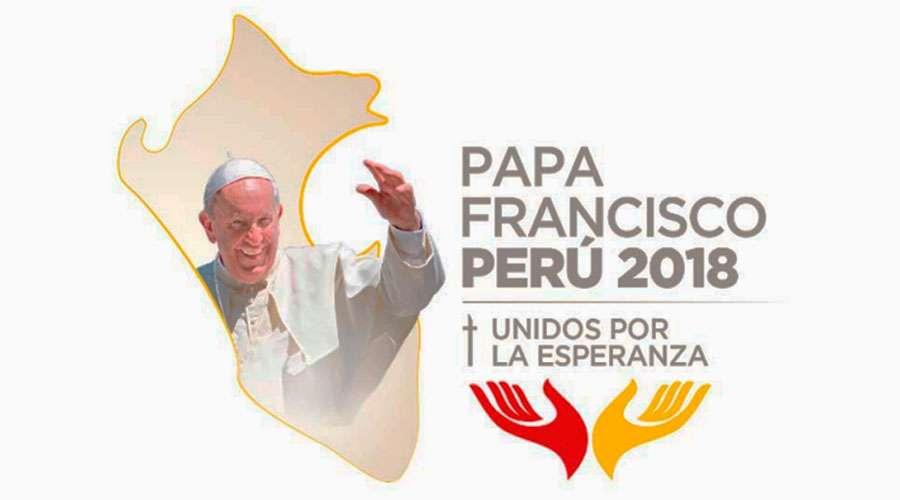 Logo de la visita apostólica a Perú