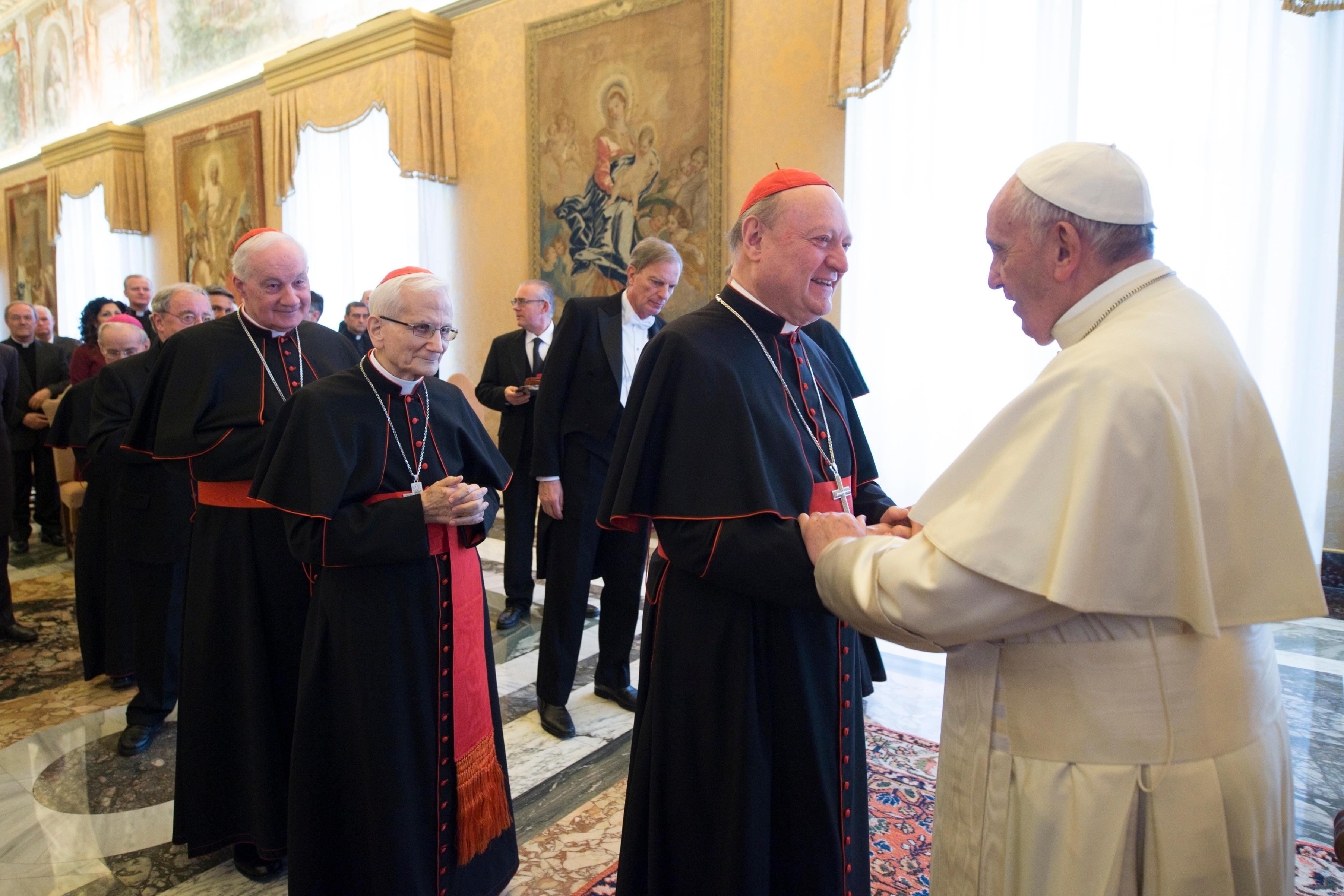 El Papa saluda a miembros de la Congregación para la Doctrina de la Fe © Vatican Media