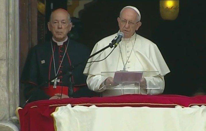El Papa reza por los hermanos del Congo, en el Ángelus. Captura de pantalla Vatican Media