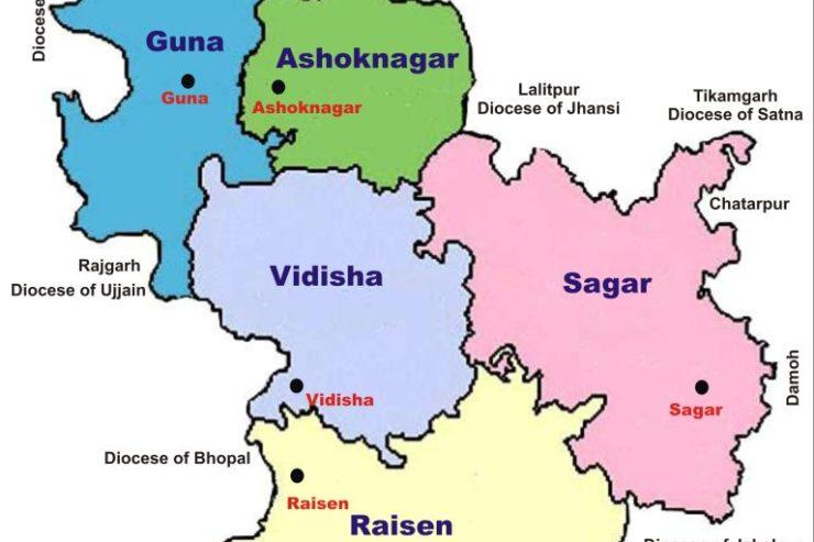 Diócesis de Sagar, India. Wikimedia Commons