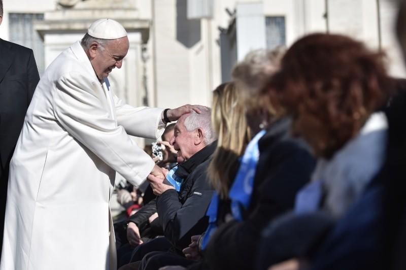El Papa Francisco en la Audiencia General, 24 de enero de 2018 © Vatican Media