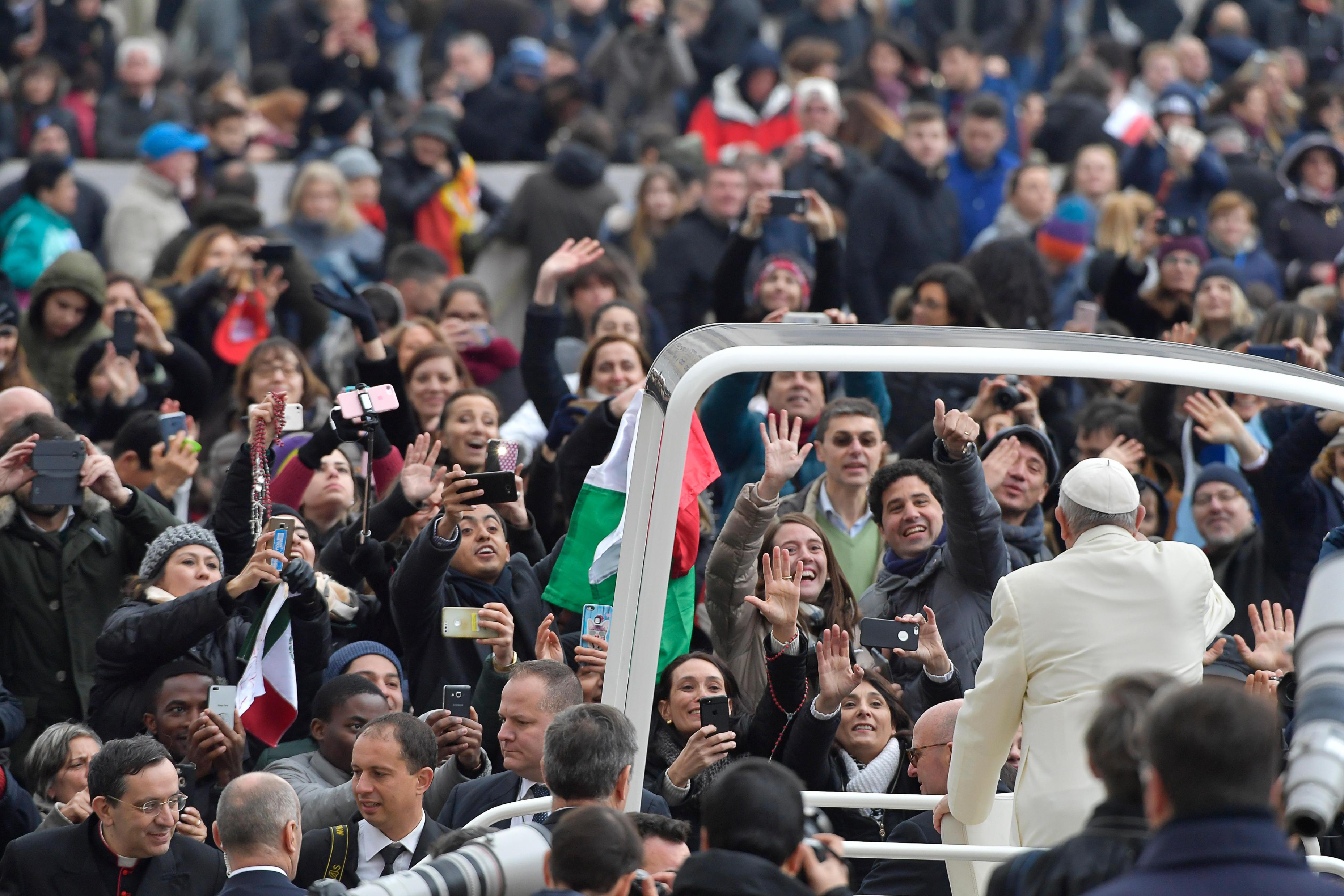 El Papa Francisco en la Audiencia General del 31/01/2018 © Vatican Media