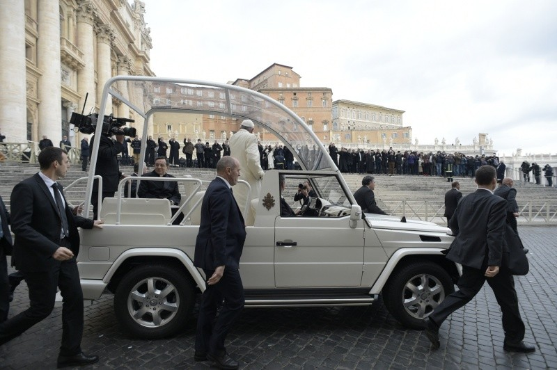 Francisco llega a la Audiencia General 31/01/2018 © Vatican Media