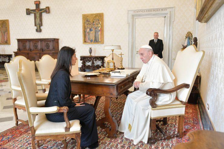 El Papa ha recibido a Virginia Raggi, alcaldesa De Roma 12/01/2018 © L'Osservatore Romano