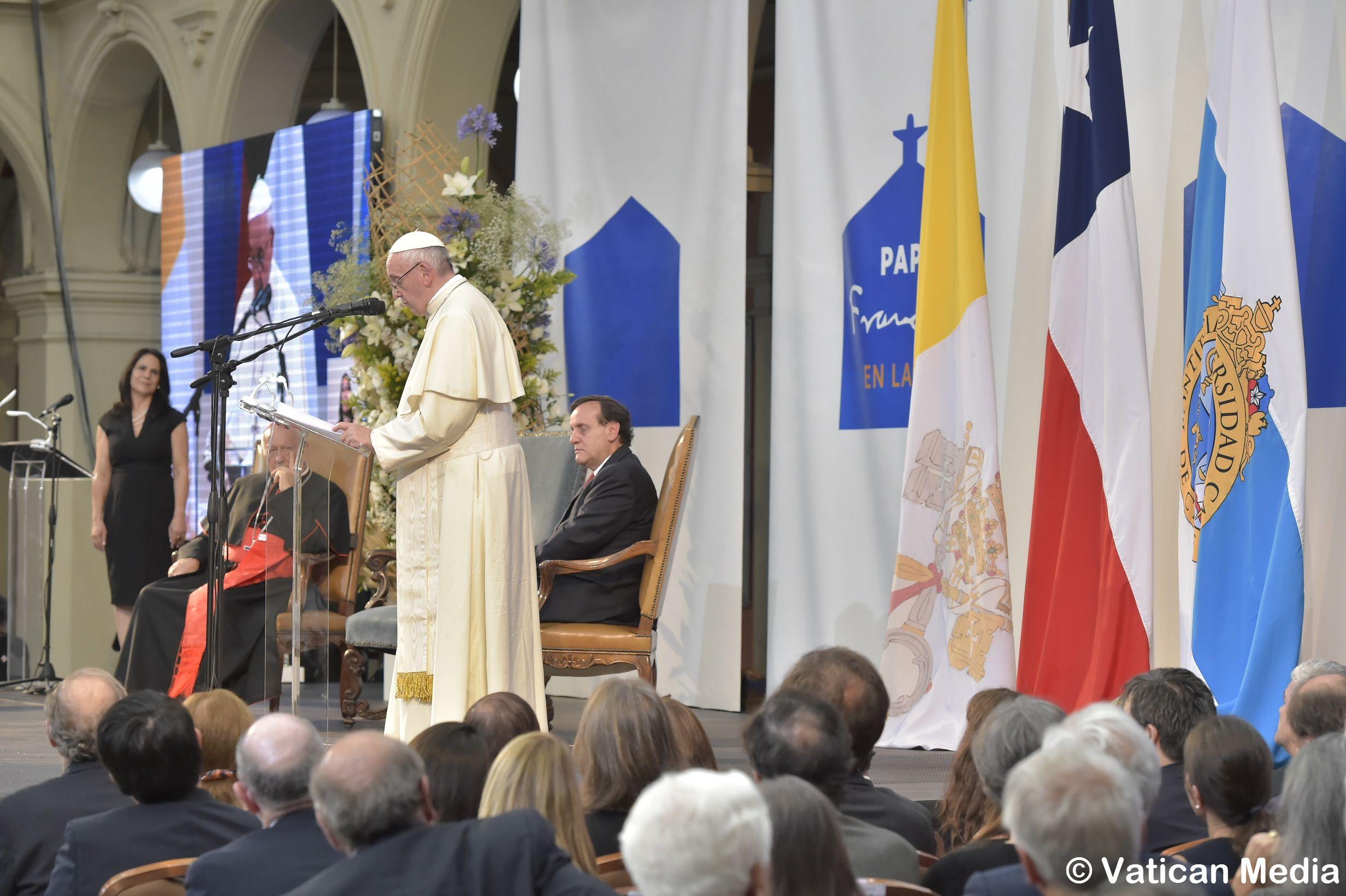 Discurso en la Pontificia Universidad Católica de Chile © Vatican Media