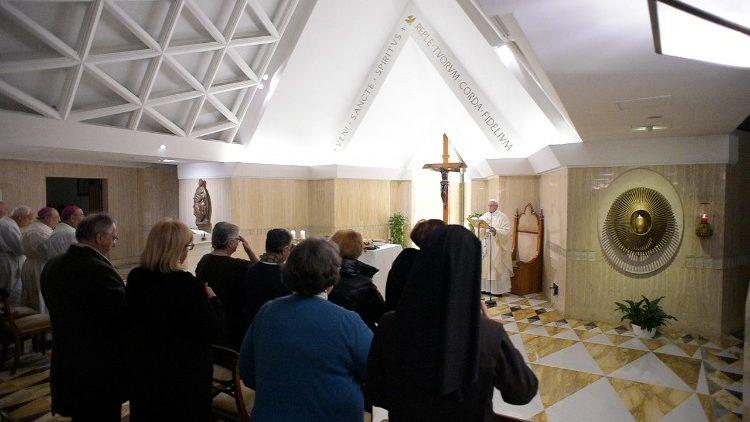 Misa en la Capilla de Santa Marta 29/01/2018 © Vatican Media