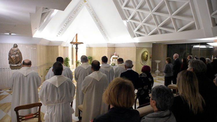 Misa del Papa en Santa Marta 26/01/2018 © Vatican Media