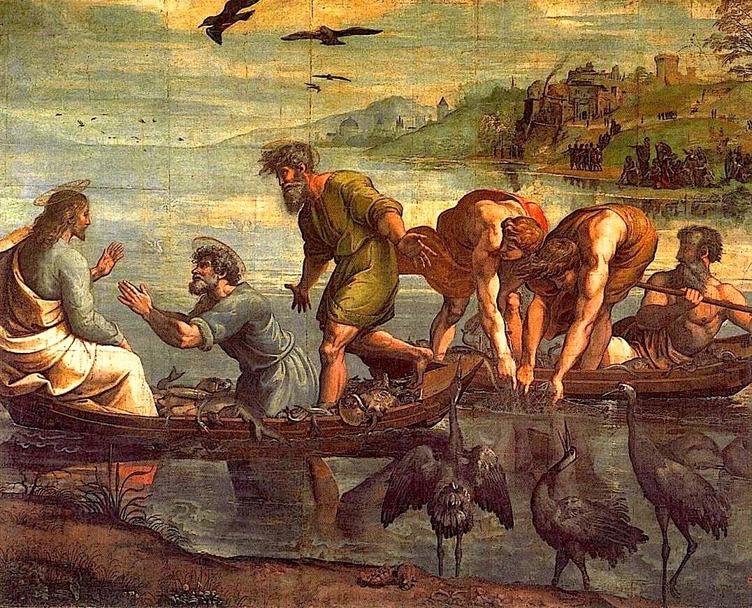 La pesca milagrosa. Rafael