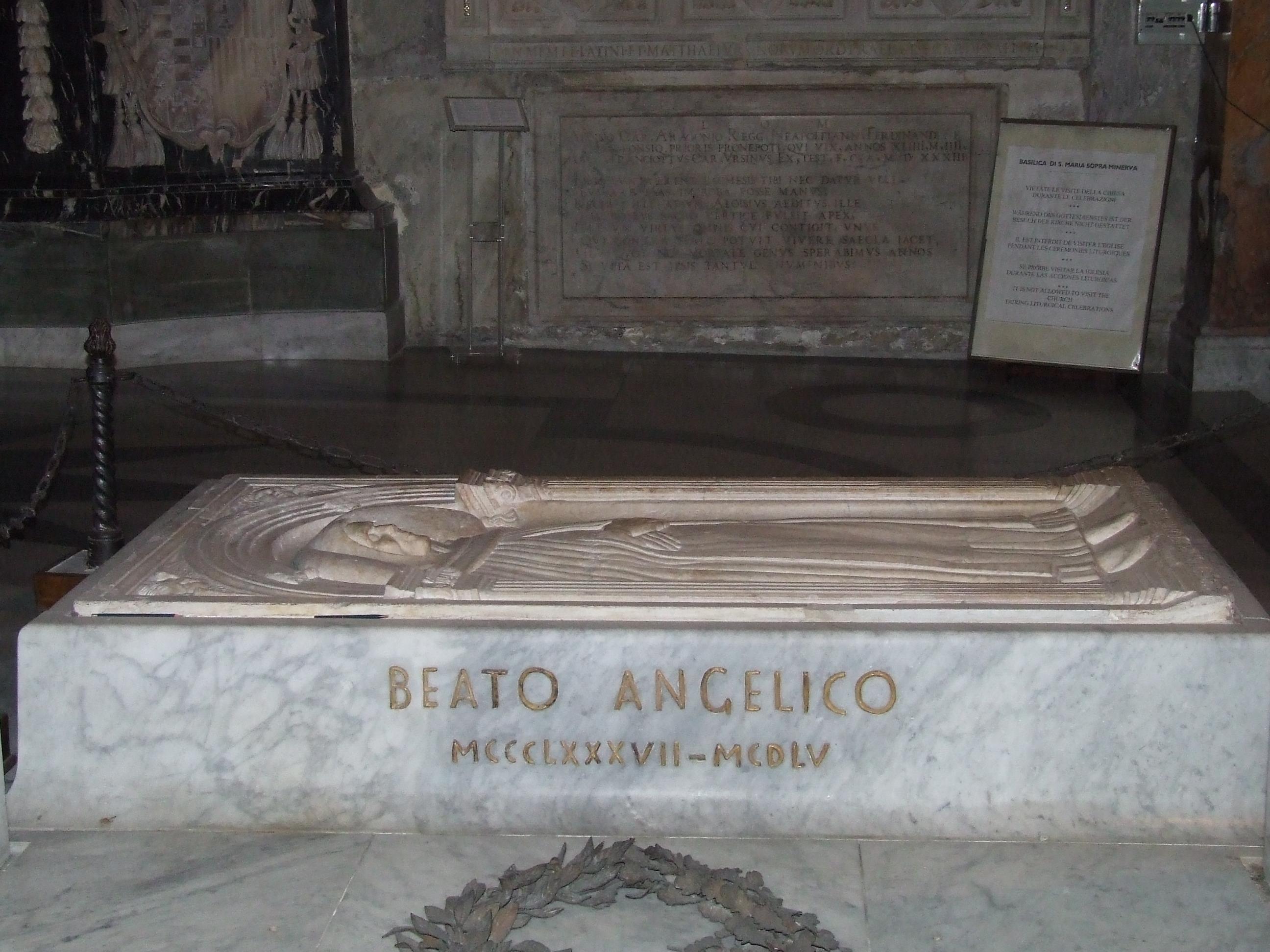 Tumba de Fra Angelico, en la basílica Santa María Minerva © Pinterest