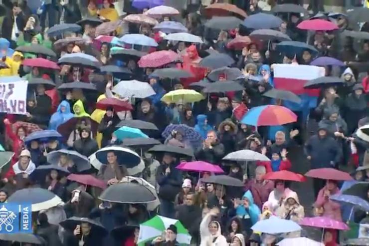 Ángelus 18/02/2018, Captura @ Vatican Media