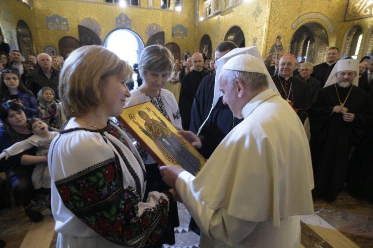 Basílica Greco-católica ucraniana Santa Sofía © Vatican Media