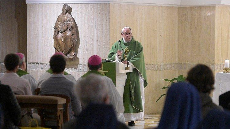 El Papa Francisco celebra la Eucaristía 1/2/2018 © Vatican Media