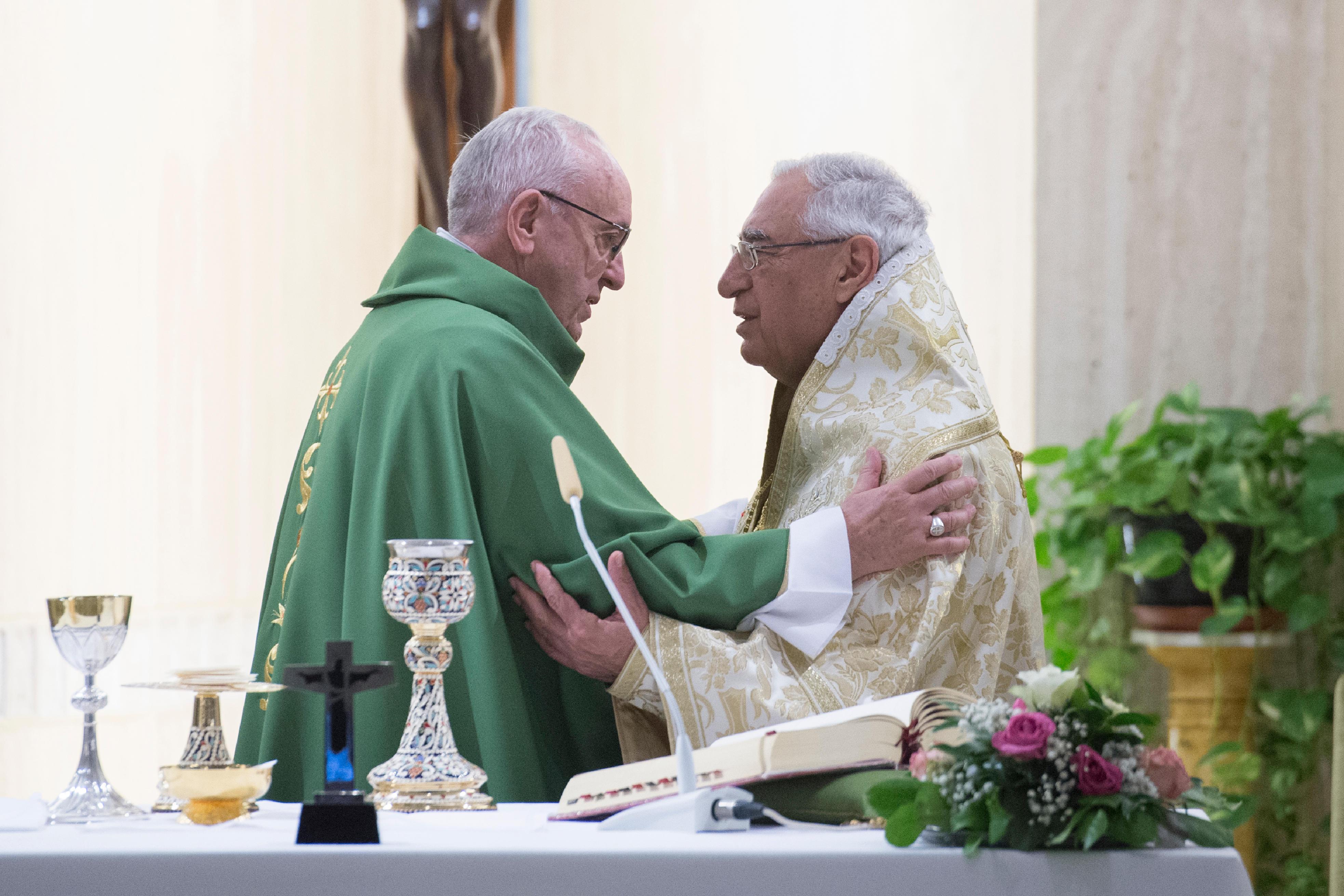 El Papa celebra la Misa con el Patriarca de la Iglesia Greco-Melquita © Vatican Media
