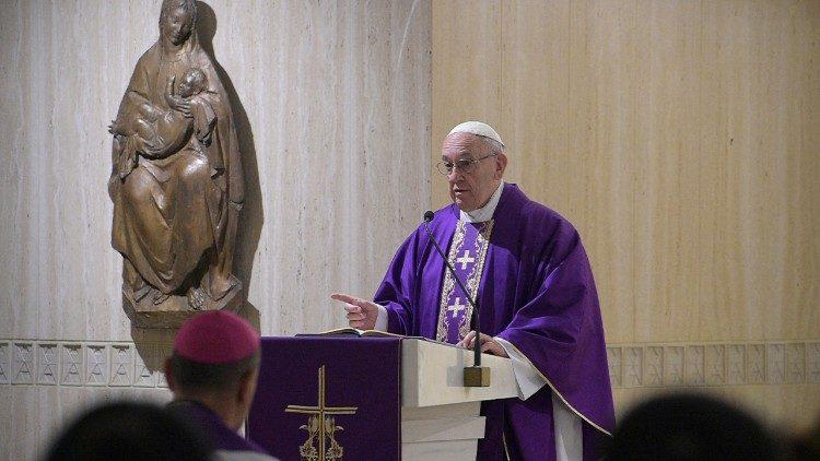 Homilía del Papa en Santa Marta © Vatican Media