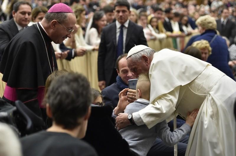 Saludo del Papa a los peregrinos en la Audiencia General © Vatican Media