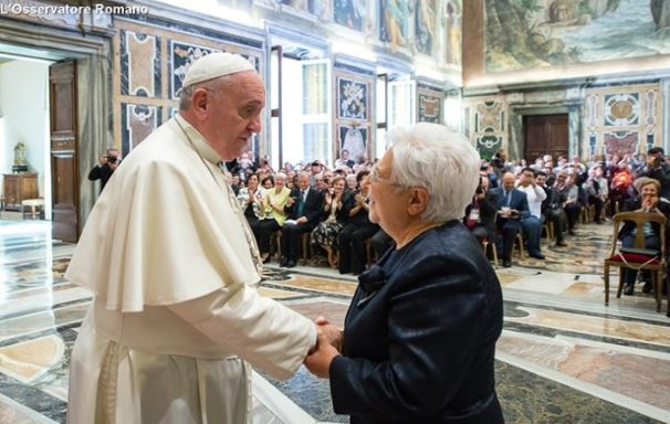 El Papa y Maria Voce, presidente de los Focolares © L'Osservatore Romano