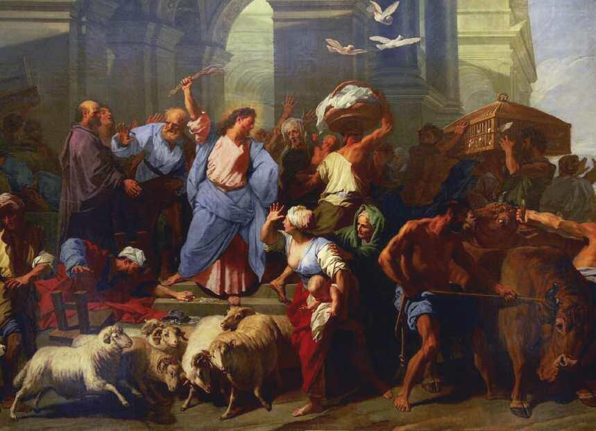 Jesús expulsa a los mercaderes del Templo