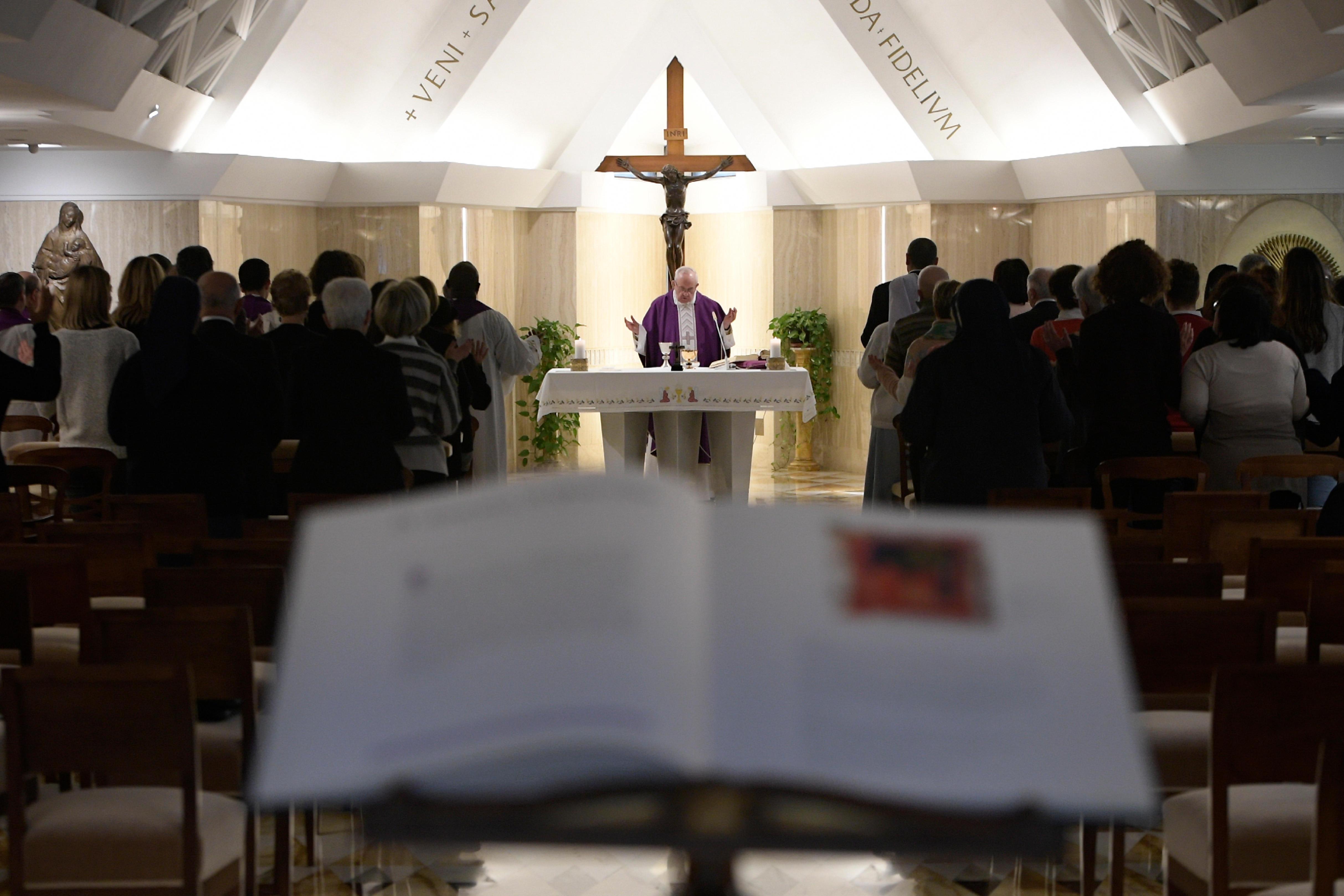 Eucaristía en Santa Marta © Vatican Media