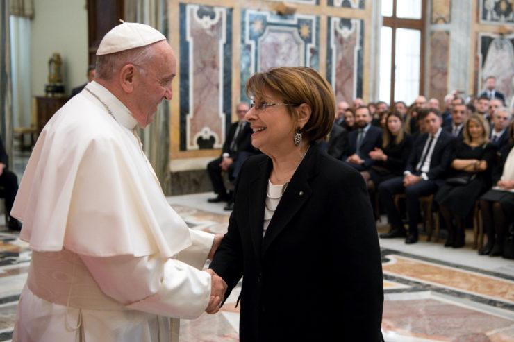 Audiencia con La Oficina de correos Italiana © Vatican Media