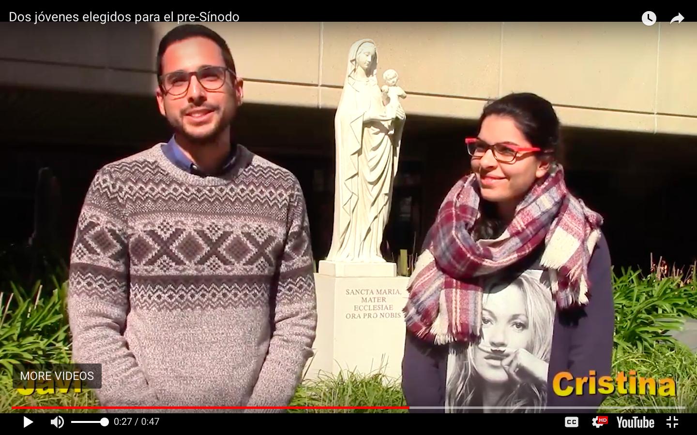Javier y Cristina. Captura de pantalla Conferencia Episcopal Española