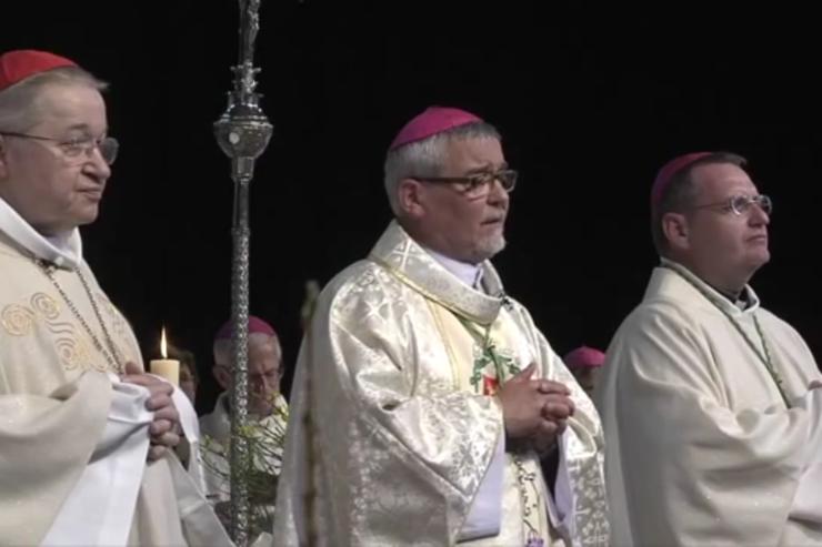 Ordenación de Mons. Georges Colomb, 2016. Captura de pantalla