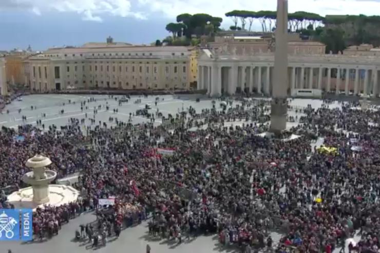 Ángelus 18/03/2018, Captura @ Vatican Media