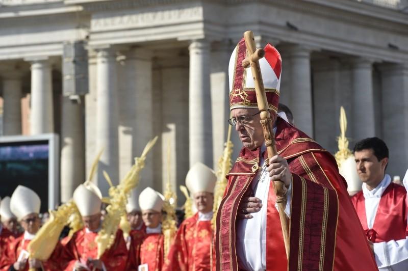 El Papa ha presidido la procesión de las palmas © Vatican Media