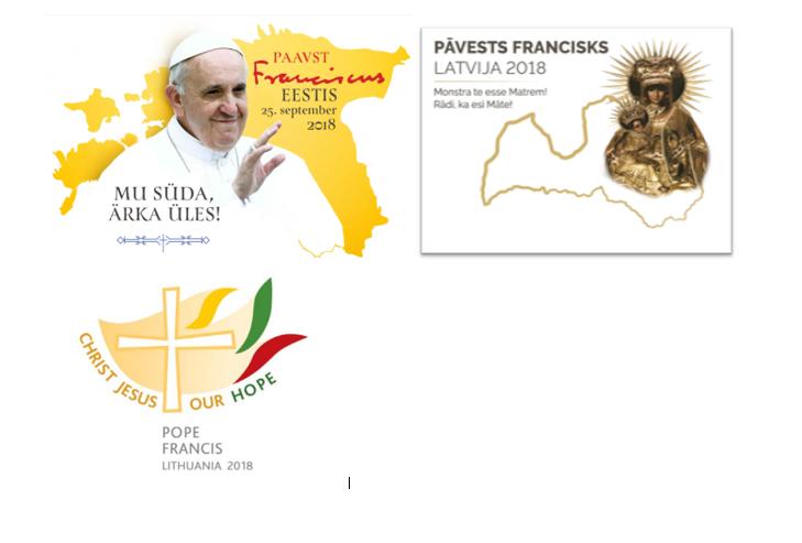 Logos del viaje apostólico a los países bálticos