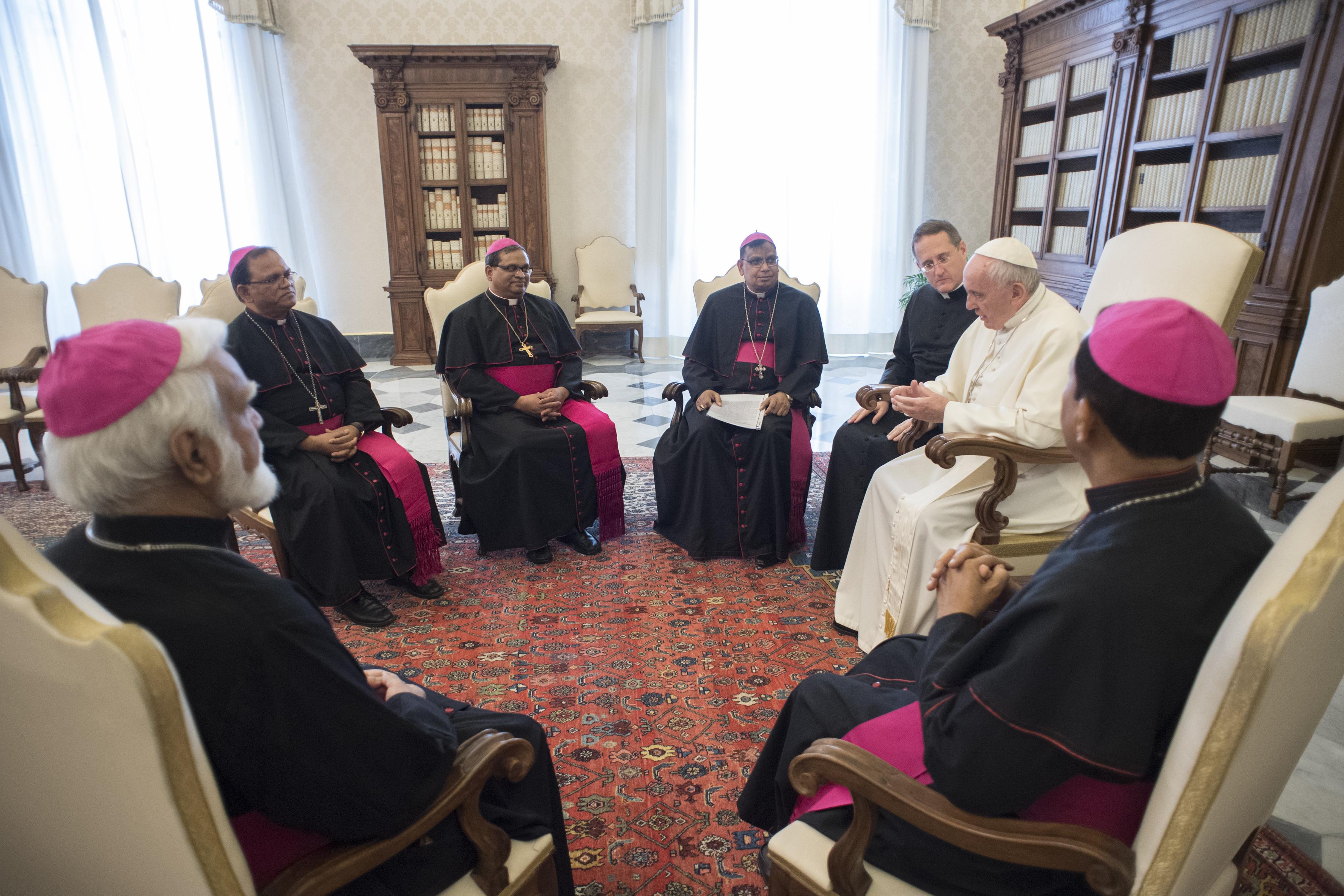 Los obispos de Pakistán en visita ad limina © Vatican Media