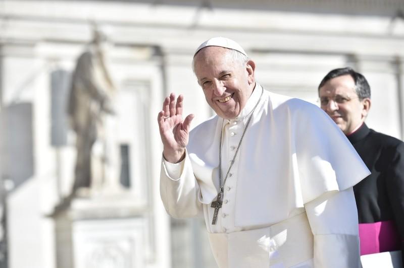 El Santo Padre, al comienzo de la Audiencia General © Vatican Media