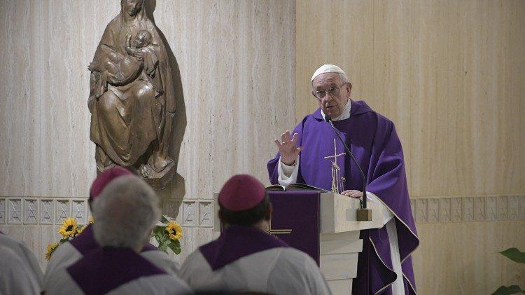 Misa en Santa Marta celebrada por el Papa Francisco © Vatican Media