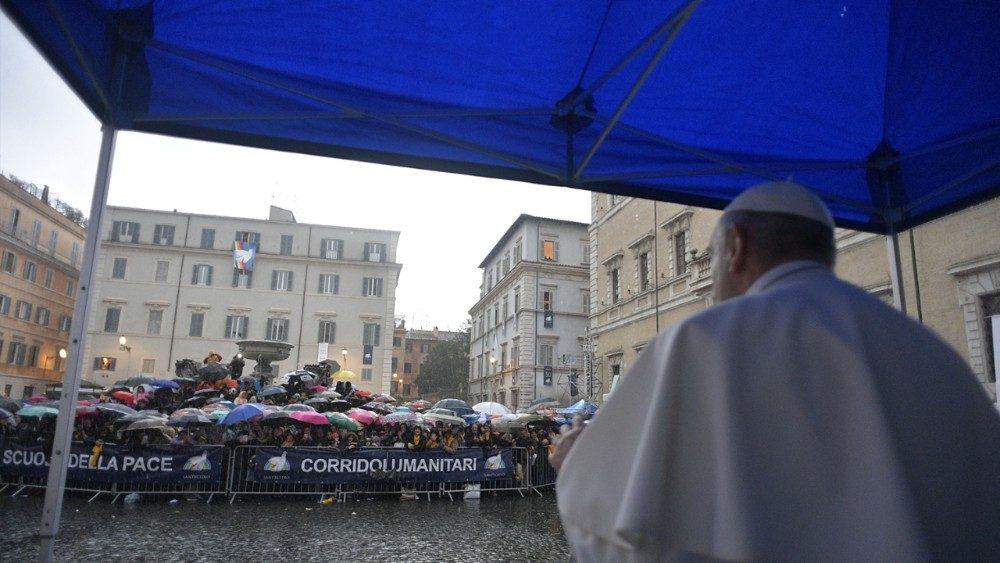 El Papa celebró el 50º aniversario de la Comunidad de San Egidio © Vatican Media