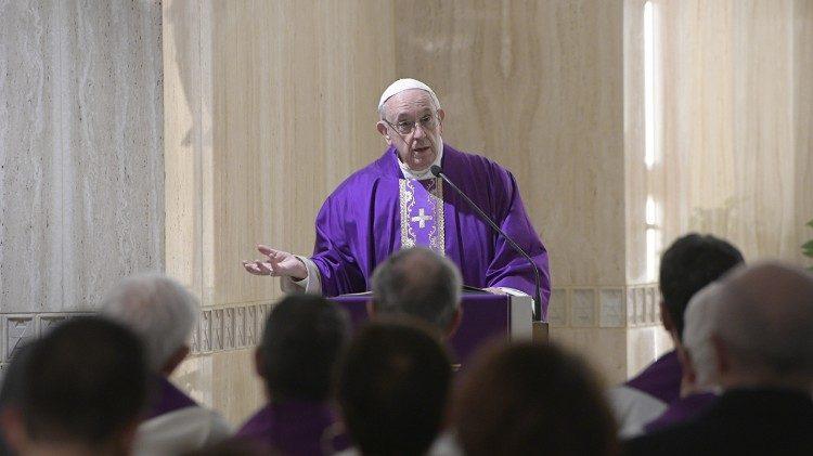 Misa matutina del Papa Francisco, 6 marzo 2018 © Vatican Media