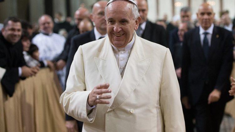 Visita del Papa a la Secretaría de Estado 27/03/2018 © Vatican Media